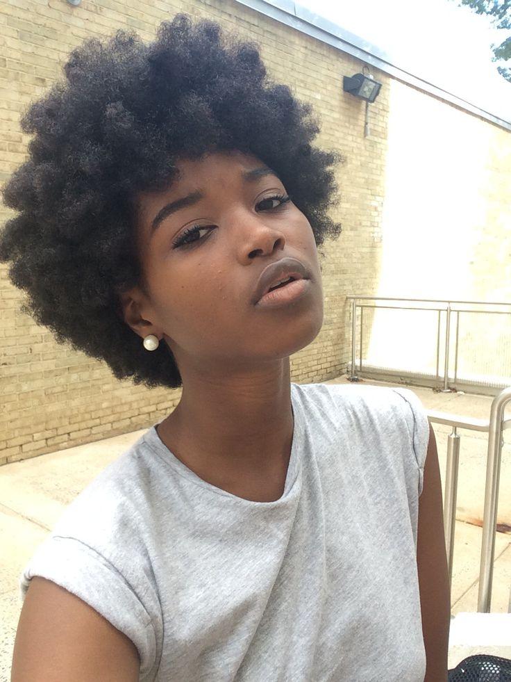 Beautiful healthy natural hair.