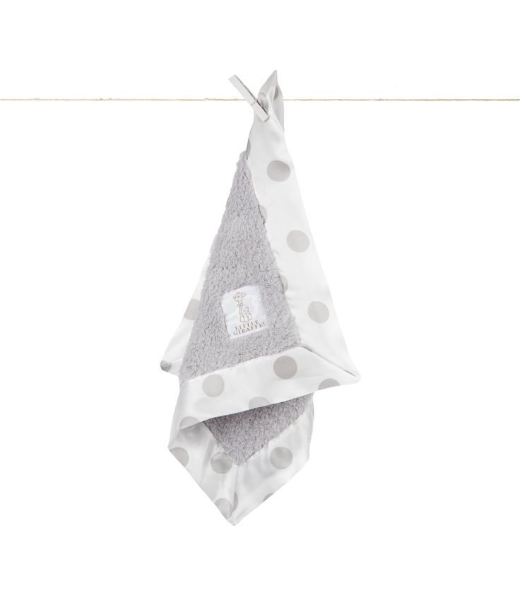 Little Giraffe - Chenille New Dot Blanky - Silver