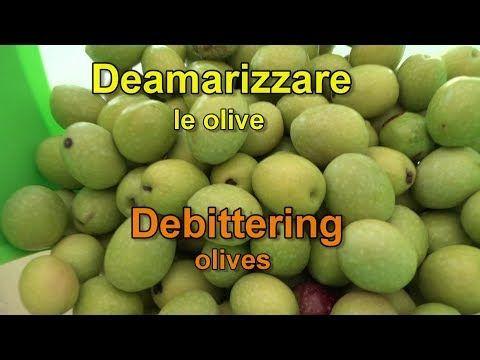 Come deamarizzare le olive (debittering olives) - YouTube
