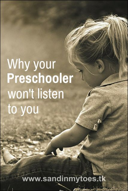 Why your preschooler won't listen to you and what you can do about it!