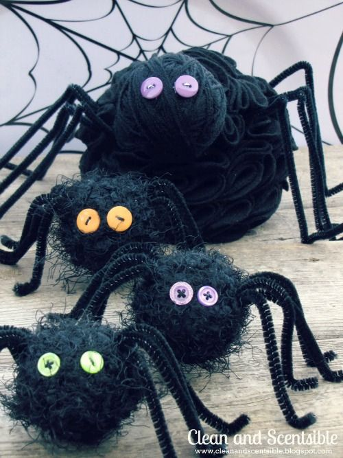 Easy to make Halloween spiders!