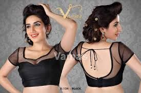 Image result for sleeveless saree blouses
