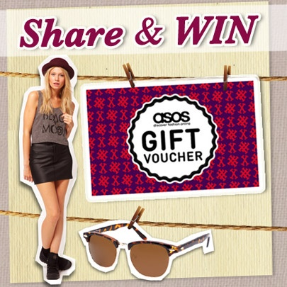 Win a shopping spree at ASOS worth over $5000! Pick 3 of your favourite items from insing.clozette.co/asos and share via twitter to win ASOS gift vouchers. Top Prize of $500 ASOS Gift Voucher, plus 400 instant prizes to be won daily until 27 March 2013. - http://woobox.com/p4j4rq