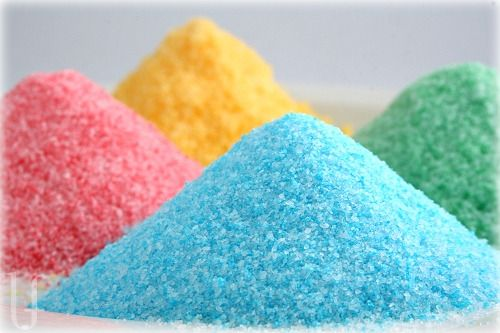 Make your own colored sugars (glass rimming, etc..)      http://allrecipes.com/recipe/colored-sugar/