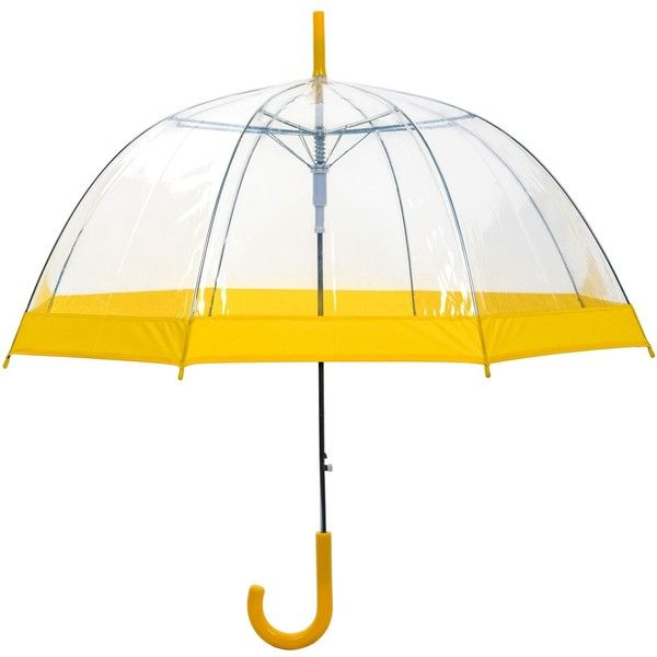 See this and similar umbrellas - Clear Dome Umbrella - available with pink, black, blue, silver or yellow trim. POE clear dome bubble umbrellas - all automatic...