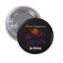 Choose Happiness - Go Riding 3 Cm Round Badge