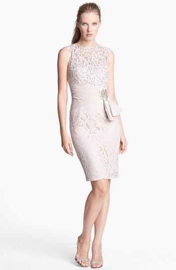 Eliza J Embellished Lace Sheath Dress (Regular & Petite) | Nordstrom
