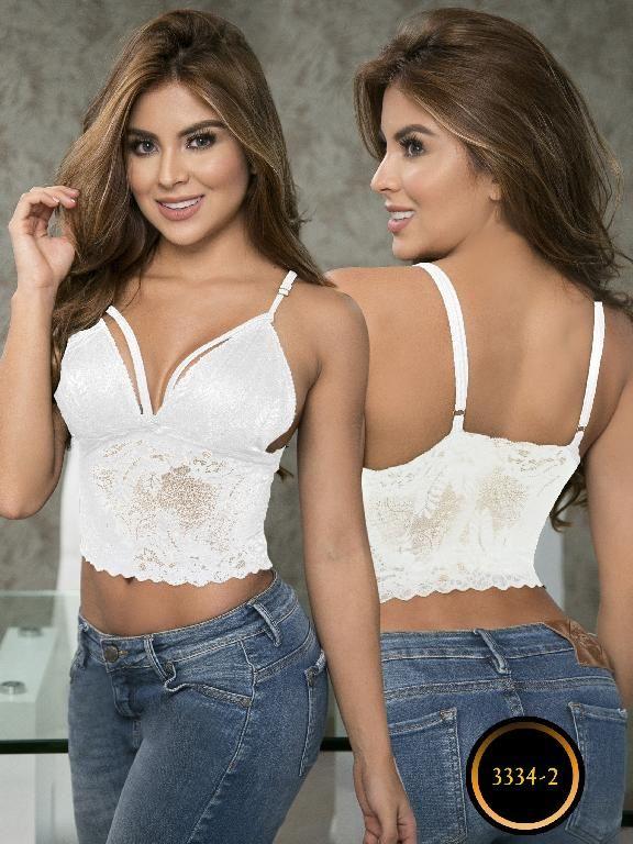 8236a5859d6 Crop Top Moda Colombiana Thaxx - Ref. 119 -3334-2 Blanco