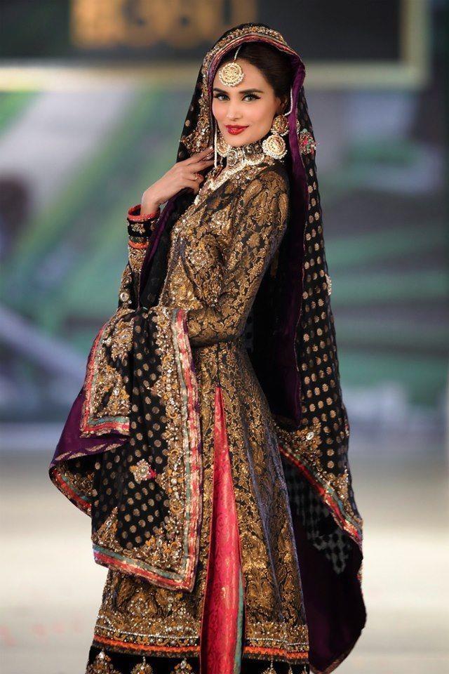 Black Pakistani Wedding Dresses Black Pakistani Weddin...