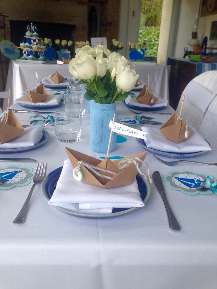 Table for a baptism party.