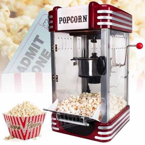 Thuis bioscoop kwaliteit popcorn maken met de Retro Popcornmachine deluxe. Lekker voor bij een filmpje! voor 22:00 besteld is morgen in huis.