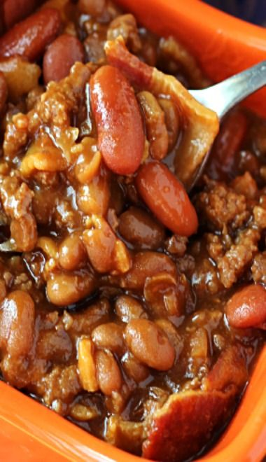 Slow Cooked Hickory Smoked Baked Beans