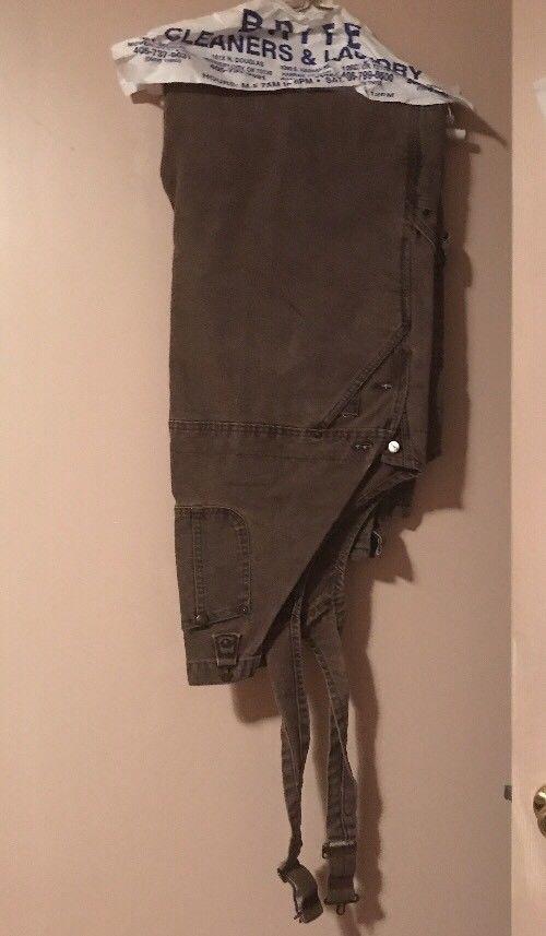 Carhartt Mens Duck sz 46 x 30 Bib Overall Quilt Lined Insulated Brown R27 Pants #Carhartt #Overalls