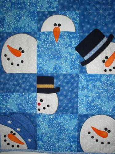 snowman quilt by packagethiefnj, via Flickr