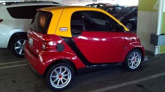 Custom painted smart car