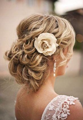 blonde updo hairstyle + wedding hair  + wedding updo