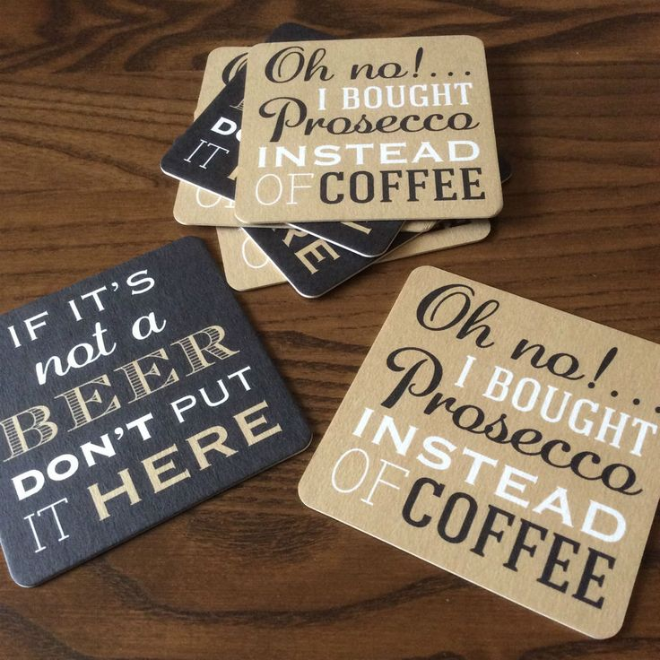 'PROSECCO OR BEER?' BEER MATS (Great gift for couples!) | eBay