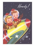 Howdy from Kids in Outer Space Posters