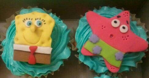 Sponge Bob Cupcakes by Gail