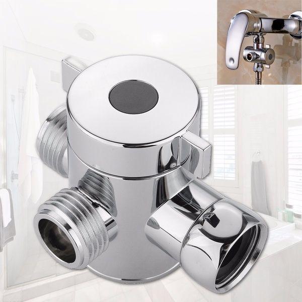 G1 2 Chrome Three Way T Adapter Water Valve For Toilet Bidet