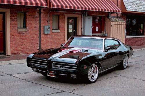 Sweet 69 Pontiac GTO. Awesome American Muscle Car!