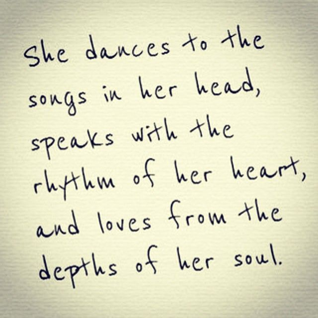 to the songs in her head...with the rhythm of her heart.......from the depths of her soul ...........she dances, she speaks, she loves.......