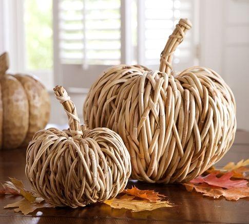 Woven Rattan Pumpkins - Pottery Barn