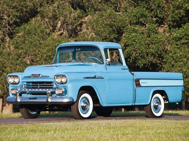 1958 Chevrolet Half Ton Cameo Carrier Pickup Truck I D Be The Hiest In World If Had This Car Transportation Trucks Chevy