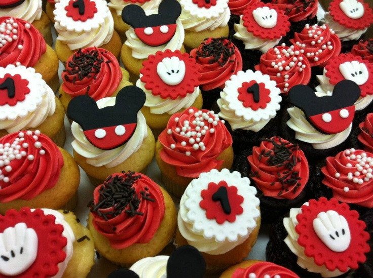 Mickey Mouse Cupcake Toppers. $18.00, via Etsy.