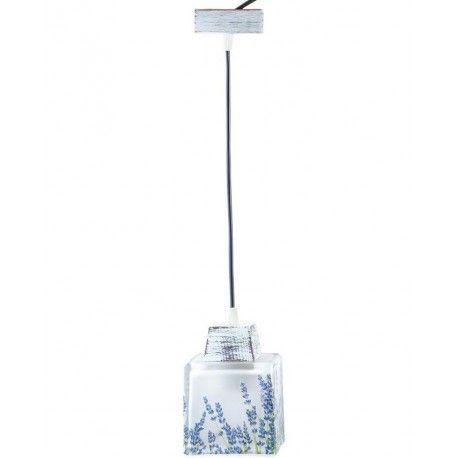 Lampa wisząca dzięki motywowi lawendy na kloszu podkreśla prowansalski styl w jakim została wykonana.  Więcej na: www.lawendowykredens.pl