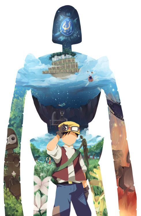 Paku - Laputa Castle in the Sky - Studio GhibliMagnifique non?