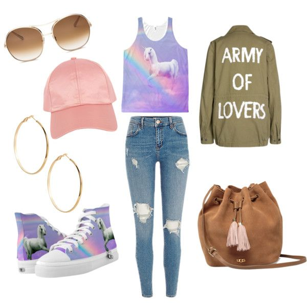 natural by m-elizarjeva on Polyvore featuring polyvore fashion style SET UGG GUESS by Marciano Armitage Avenue Chloé clothing