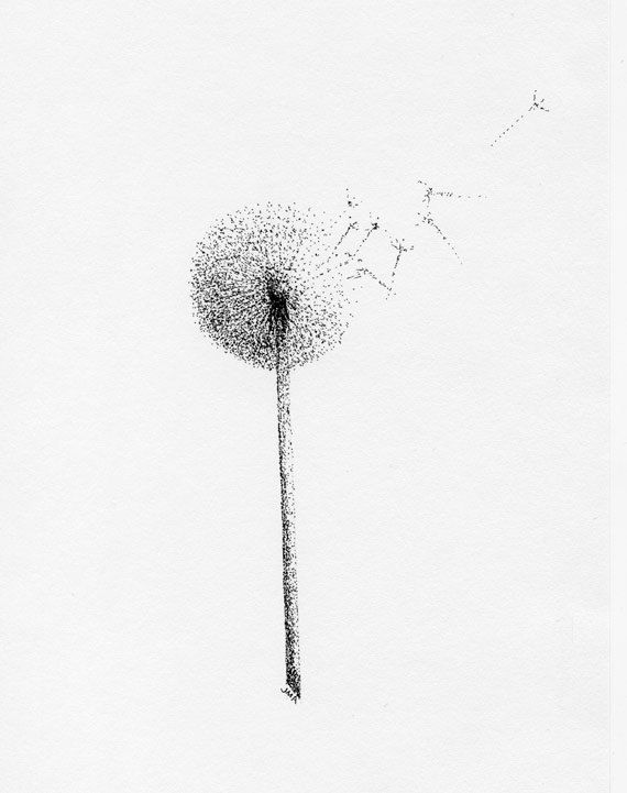 dandelion pointillism