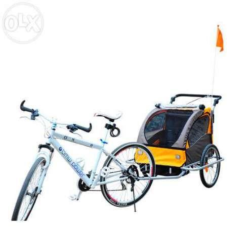 Remorca de bicicleta pentru copii Homcom, cu suspensie Bucuresti - imagine 3