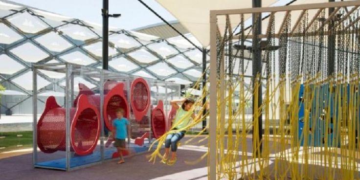 Taman Bermain Ini Interaktif Dan Mudah Diubah   11/12/2014   SolusiPropeti.com - Studio kreatif di New Jersey, Free Play, membuat debut baru di Hazza Bin Zayed Stadium, di kota Al Ain, Abu Dhabi, Uni Emirat Arab. Free Play membuat modular dengan konsep taman bermain ... http://news.propertidata.com/taman-bermain-ini-interaktif-dan-mudah-diubah-3/ #properti #proyek #desain