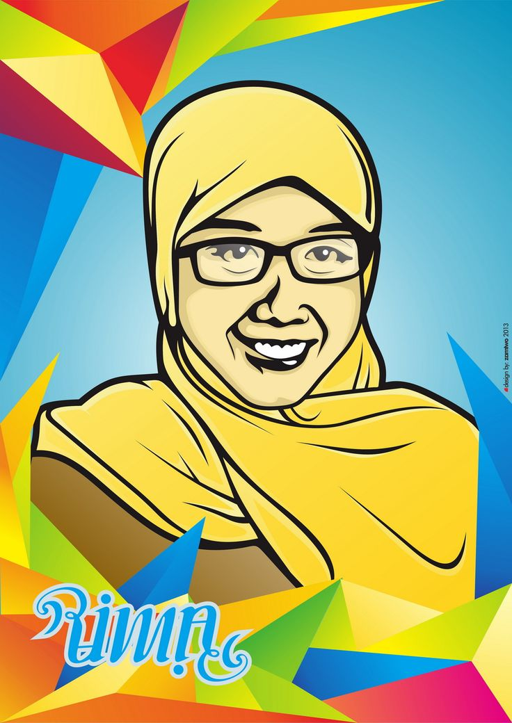 Rima Potrait and ambigram by Muhammad Zam zam