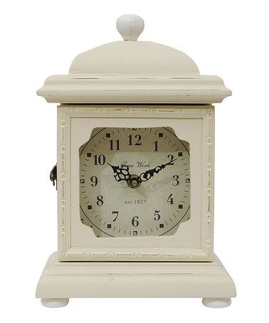 Another great find on #zulily! Cream Rustic Table Clock #zulilyfinds