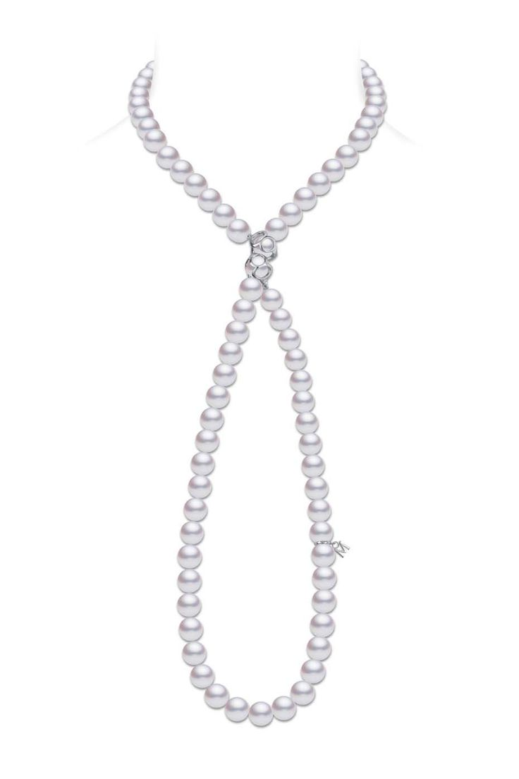 The Lucky Mikimoto Double Eight Necklace Starring 88 Akoya Pearls