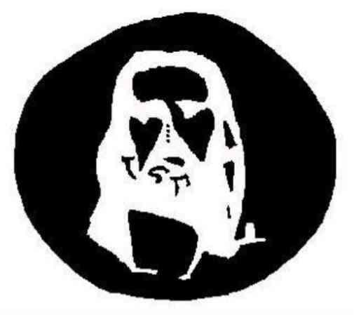 Mira fijamente durante 30 segundos los cuatro pequeños puntos que hay en el centro de esta imagen. Después cierra los ojos, echa la cabeza hacia atrás, sigue con los ojos cerrados, y verás un círculo blanco... pero dentro del círculo blanco se te aparecerá una figura muy conocida. Compruébalo.