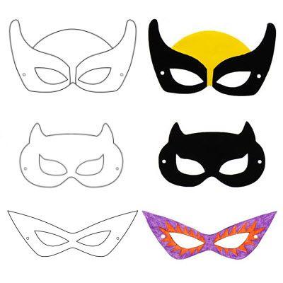 Masques de super héros à faire soi-même