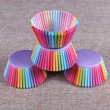 5 stijlen 100 stks cupcakevoering bakken cupcake papier muffin gevallen Cake box Cup eitaartjes lade cakevorm decorating gereedschap(China (Mainland))