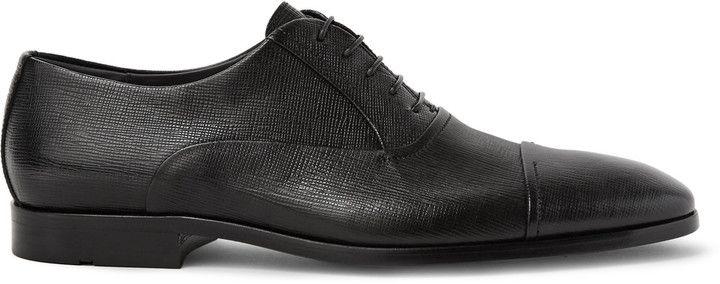 Hugo Boss Eveprim Cross-Grain Leather Oxford Shoes