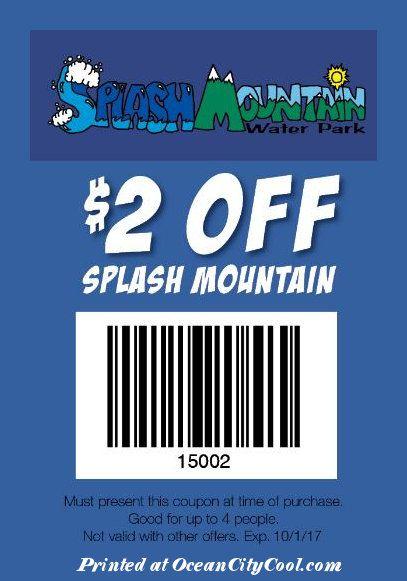 #CoolCoupons - Splash Mountain $2 OFF... #oceancitycool