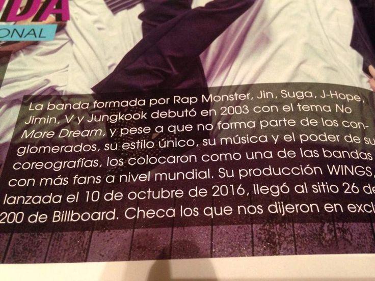 BTS en la revista Tu.   •K-Pop• Amino