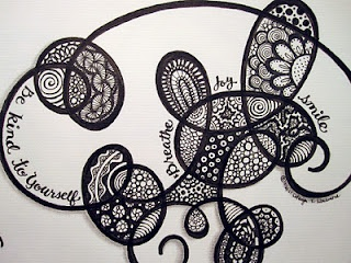 Go With the Flow zentangle