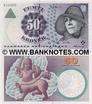 denmark currency | Denmark 50 Kroner 2001 - Danish Currency Bank Notes, Paper Money ...