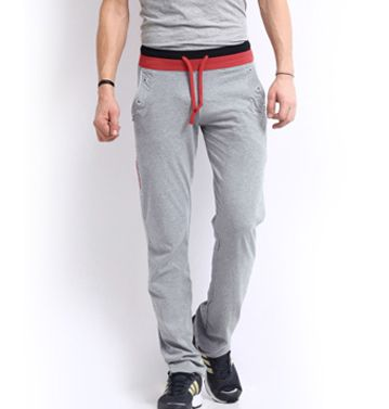 Wholesale grey melange track pant with red and black waistband is perfect to strike your machismo in style. Make bulk purchase from top supplier- Oasis Sublimation.