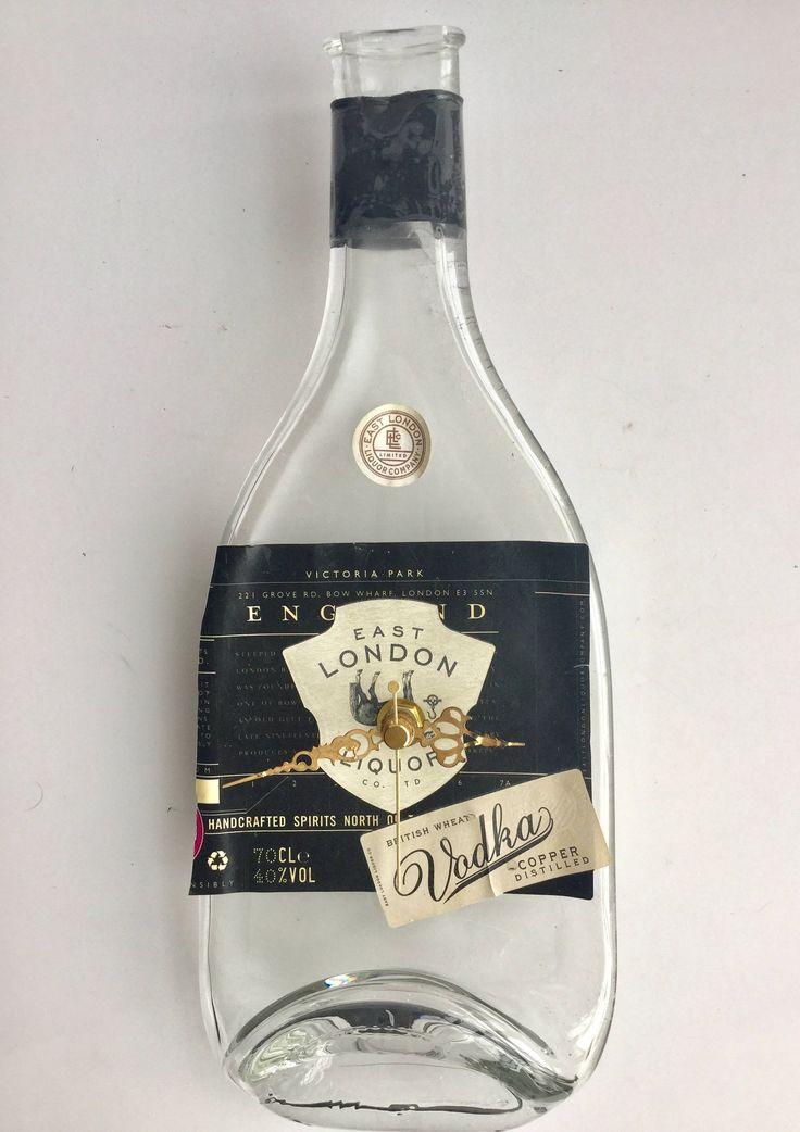 East London Liquor Vodka bottle clock by causewaybay on Etsy