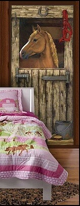 Horse Stable Wall Mural Horse Barn Wall_mural Horse_bedding_girls Horse  Theme Bedroom Decorating Ideas I Would LOVE To Do This In Brookeu0027s Room On  Her ...