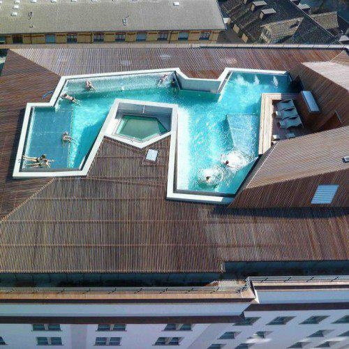 Pool in the roof